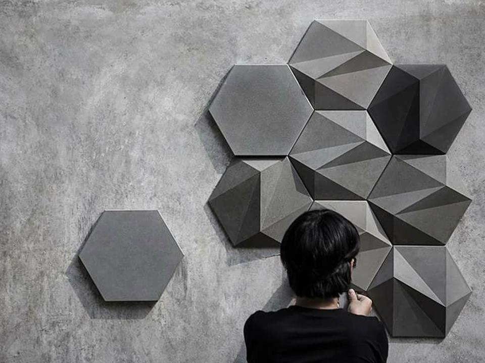Gạch bê tông ứng dụng ốp tường