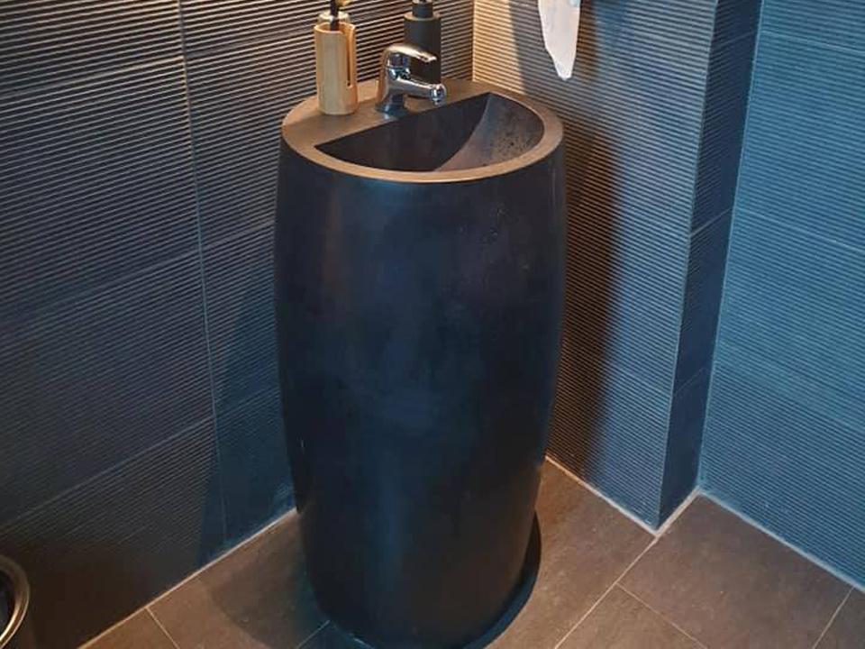 Bê tông ứng dụng bồn rửa đứng