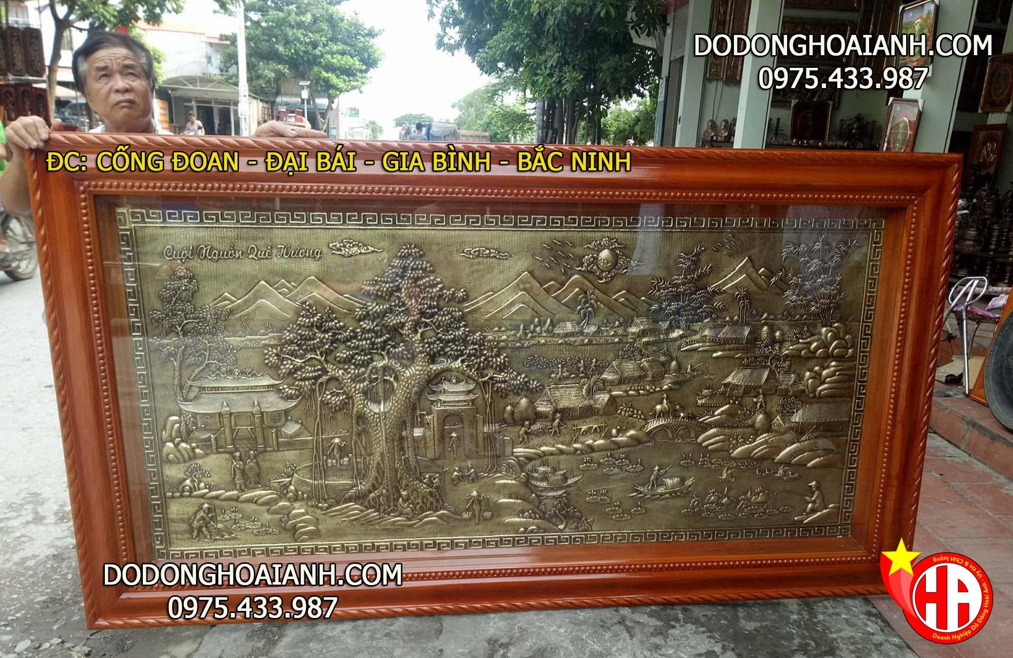 Tranh đồng quê Việt Nam - đồ đồng Hoài Ánh