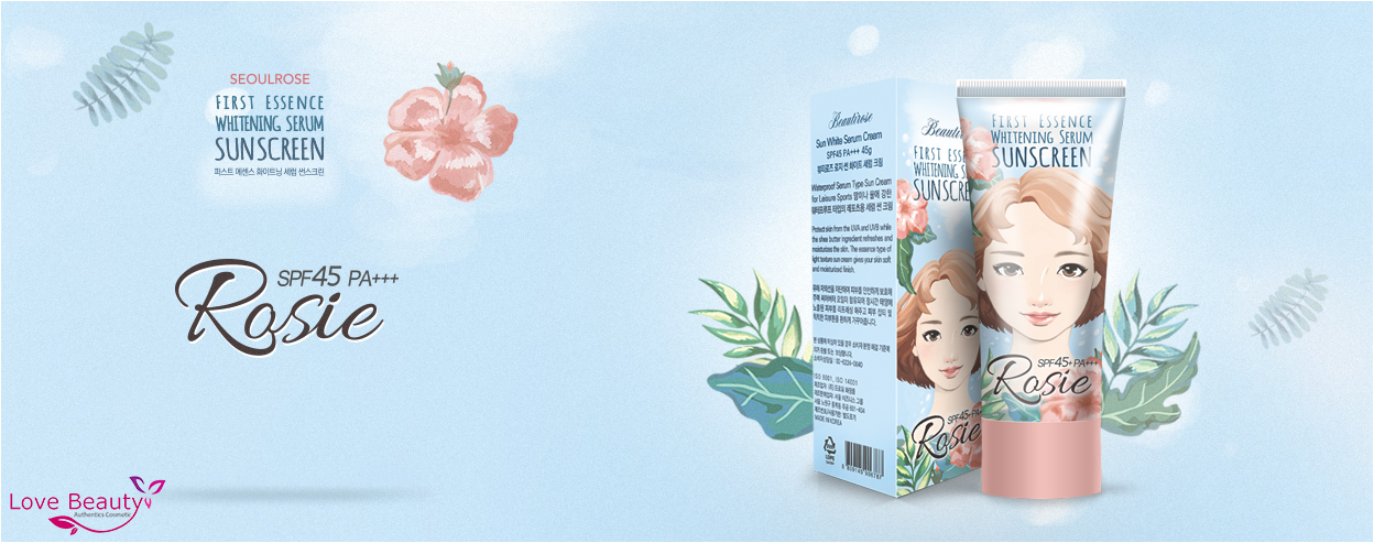 Kem chống nắng Rosie First Essence Whitening Serum Sunscreen