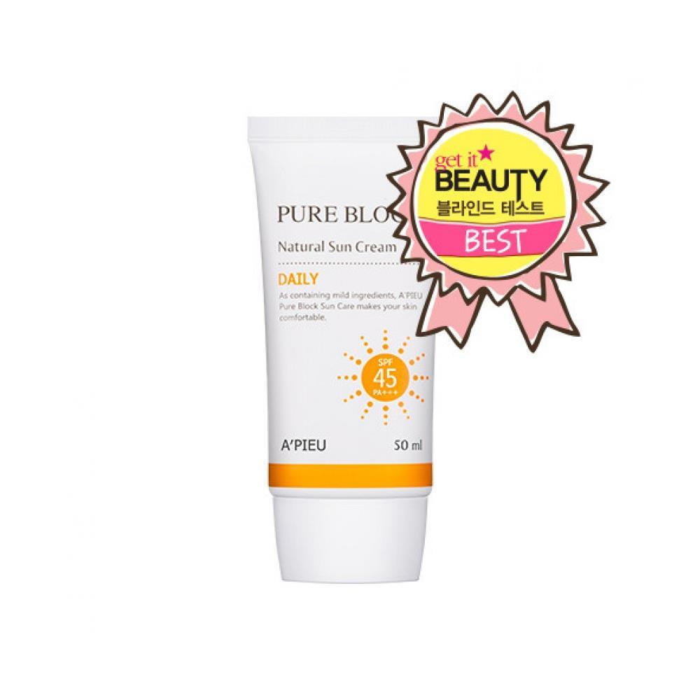 Kem chống nắng Apieu Pure Block Nature Sun Cream Daily