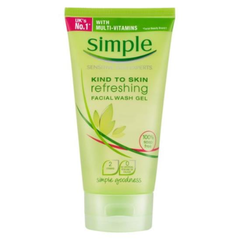 Sữa rửa mặt Simple kind to skin facial wash gel