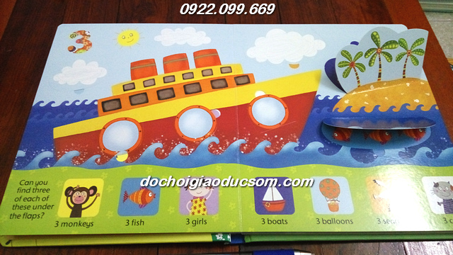 counting book usborne lift the flap giá rẻ