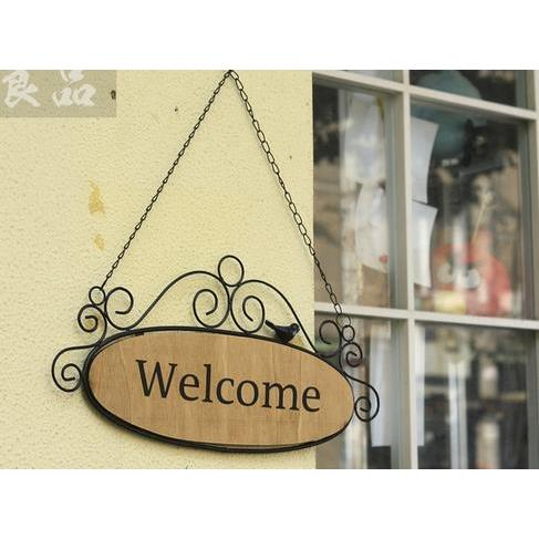 Bảng welcome/close vintage