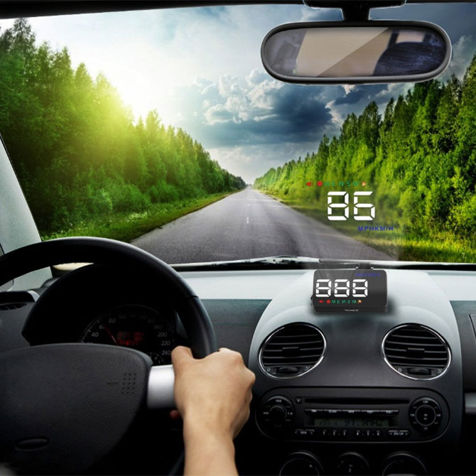 Hiển thị tốc độ trên kính lái HUD A5