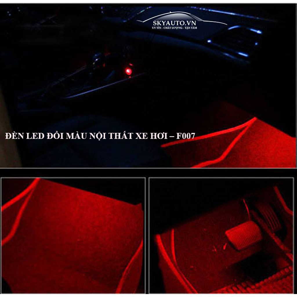Đèn Led đổi màu nội thất xe hơi