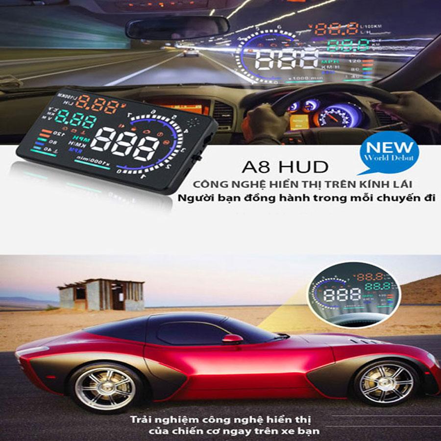 Hiển thị tốc độ trên kính lái HUD A8