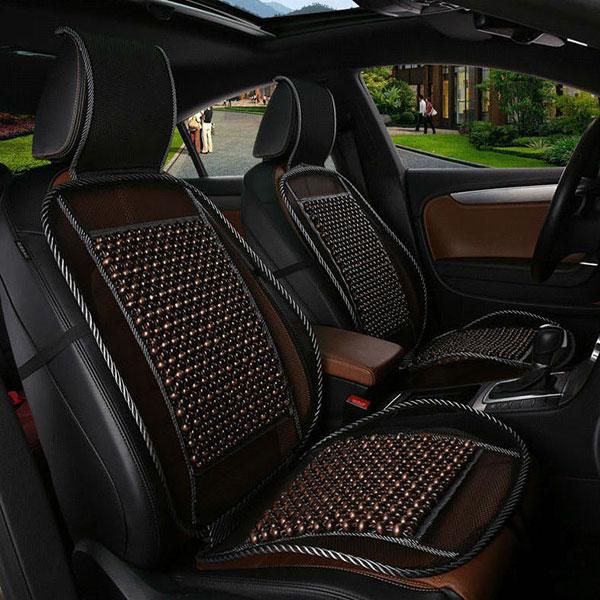 Lót ghế ô tô hạt gỗ