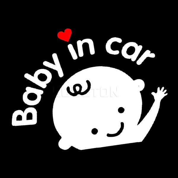 TEM DÁN BABY IN CAR