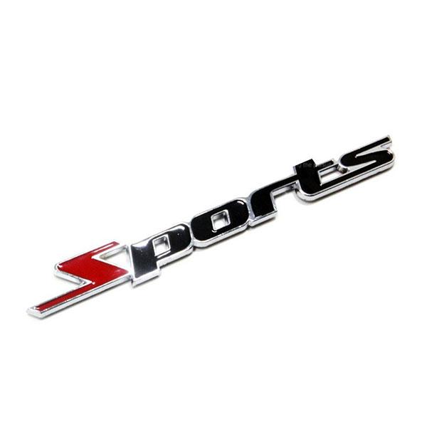 Chữ nổi Spart kim loại dán trên xe ô tô