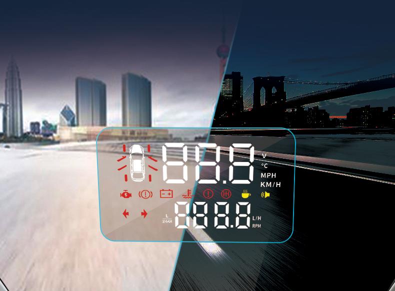 Hiển thị tốc độ lên kính lái ô tô Mazda CX-5