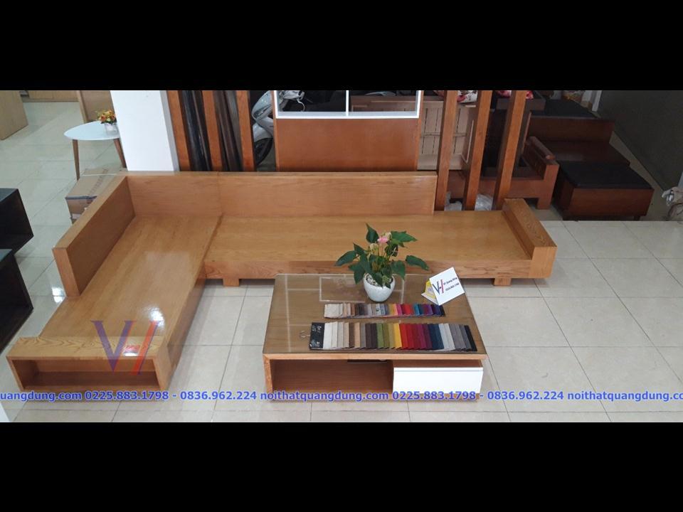 Sofa Gỗ Sồi Sg 002