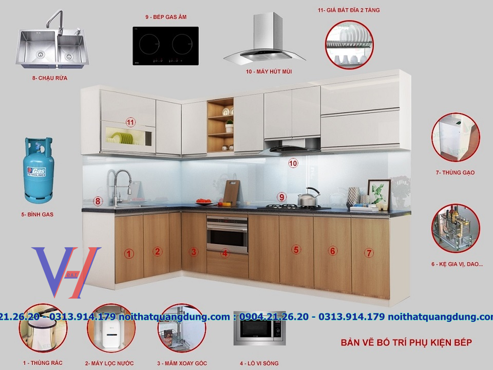 tủ bếp quang dũng hải phòng 0904212620