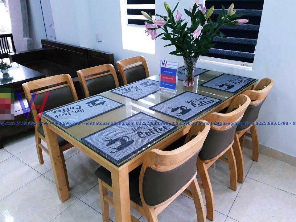 Bộ bàn ghế ăn gỗ nhập khẩu Sala tại hải phòng
