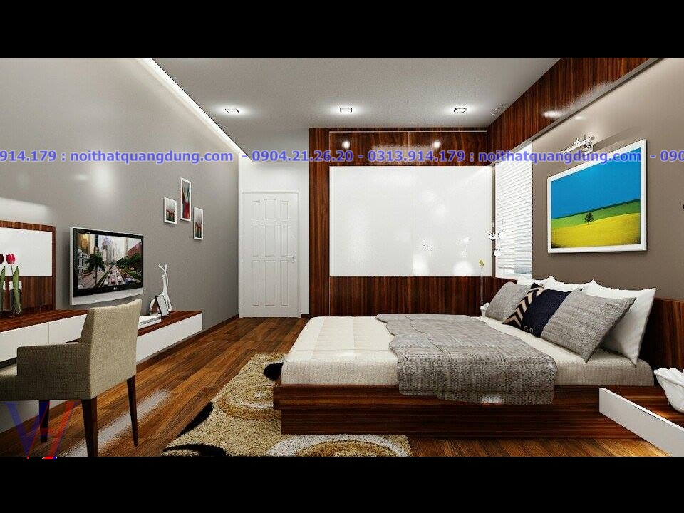 Mẫu thiết kế phòng ngủ đẹp laminate