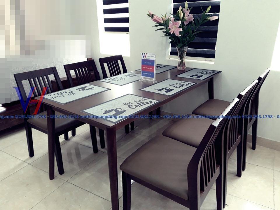 bàn ghế phòng ăn đẹp tại nội thất quang dũng