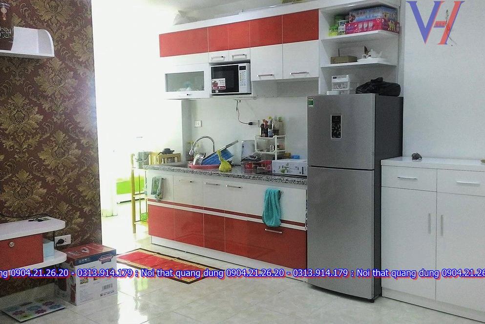 Tủ bếp xinh chung cư