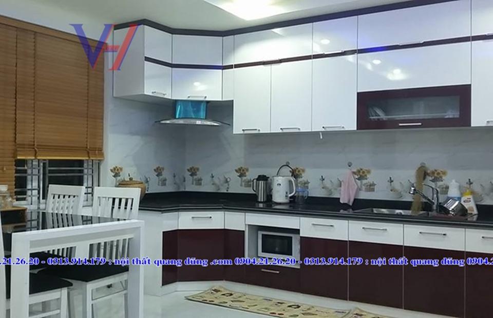 Tủ bếp nhà chị Thanh