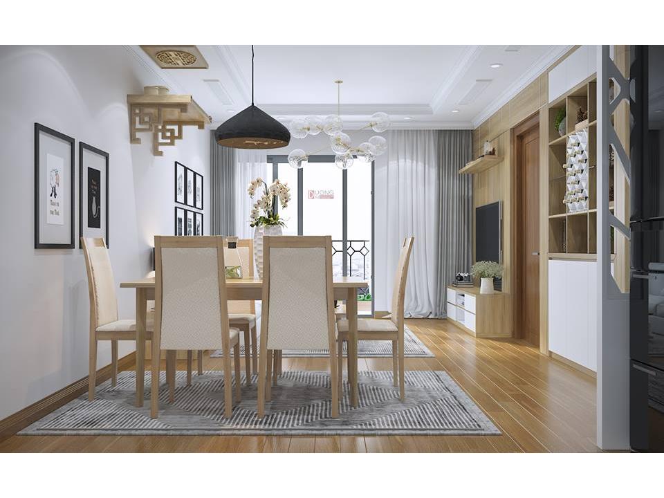 Phòng khách bếp chung cư