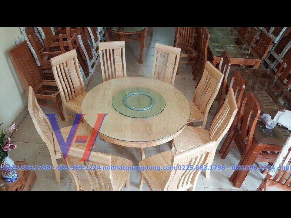 bàn ăn tròn giá rẻ quang dũng hải phòng