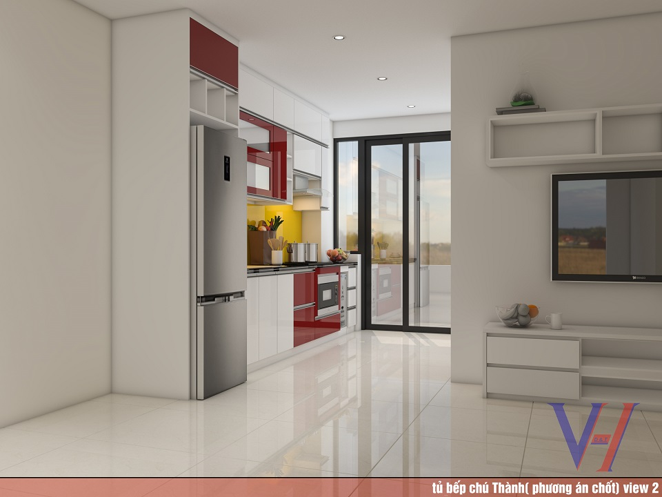 Tủ bếp nhà chú Thành