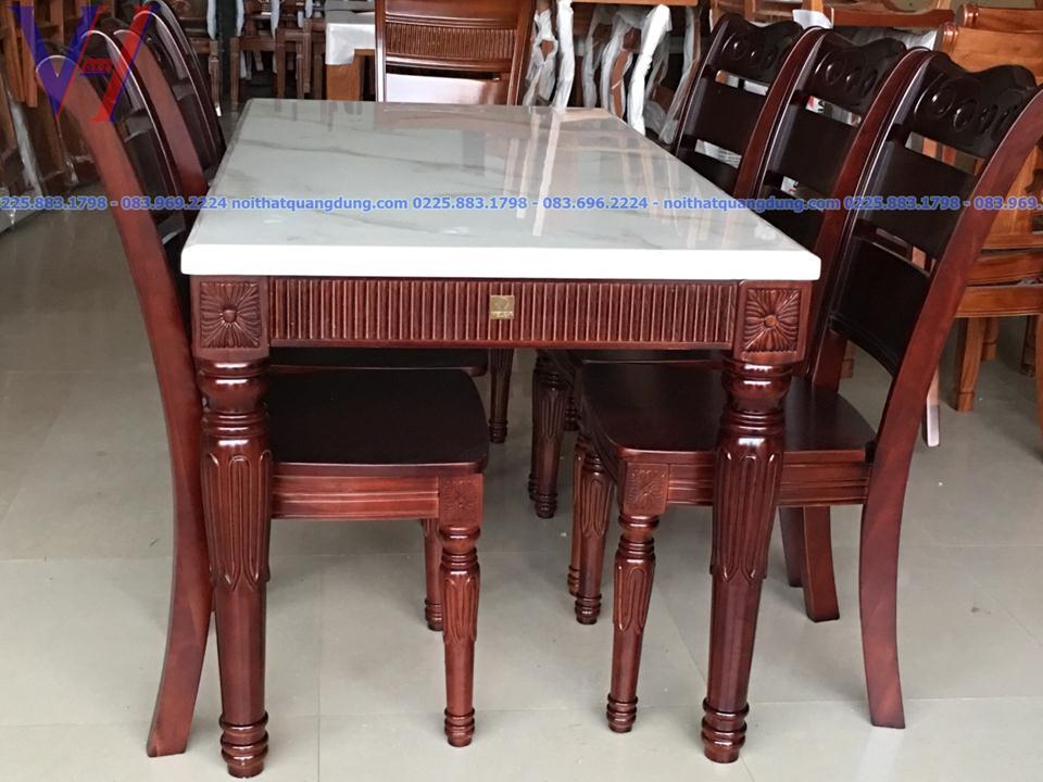 Bộ bàn ăn gỗ xà cừ: GH-6034