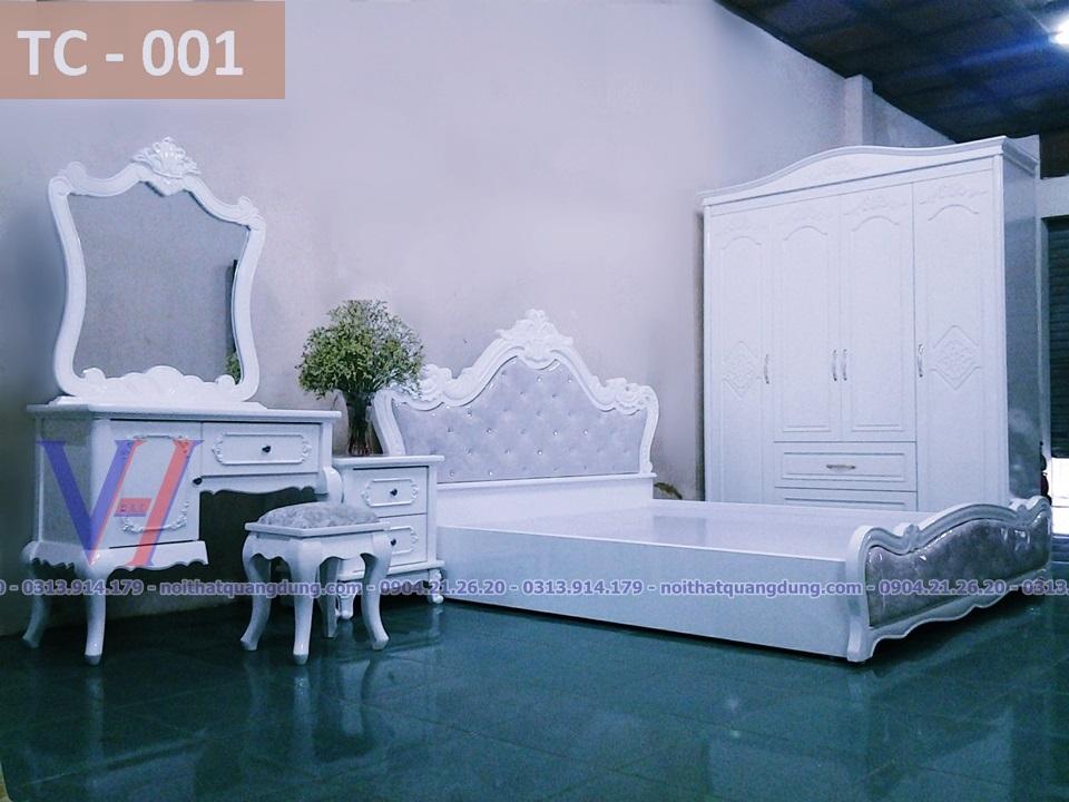 bộ phòng ngủ tân cổ điển giá rẻ nhất hải phòng