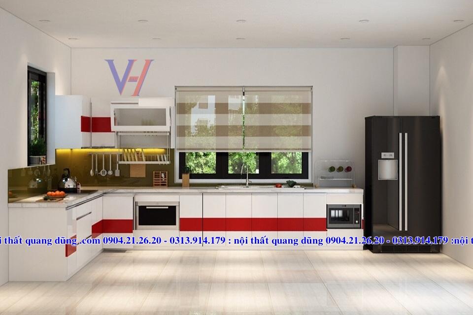 Thiết kế và thi công bếp nhà chị Hà An Dương HP