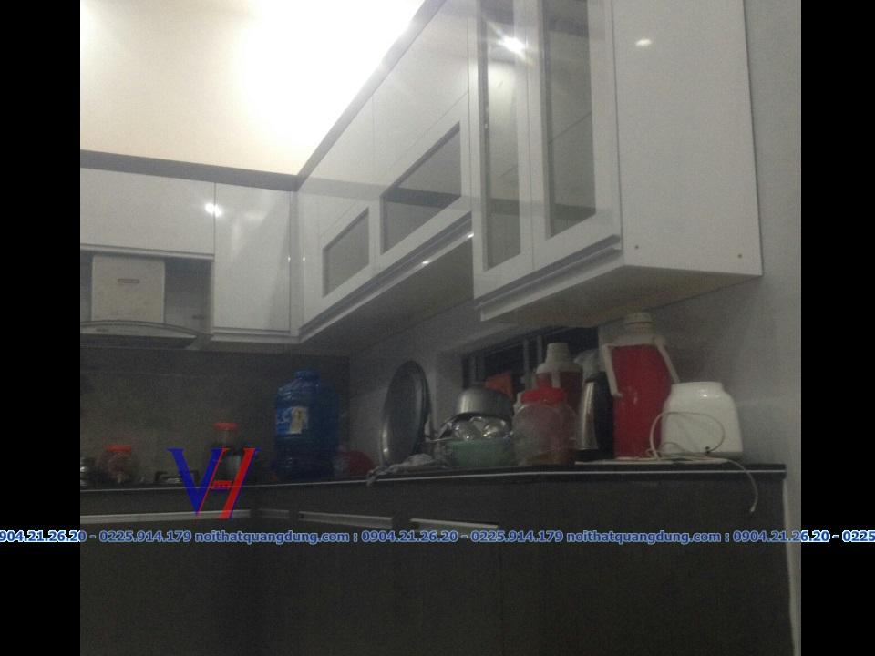 tủ bếp AICA LAMINATE Quang Dũng