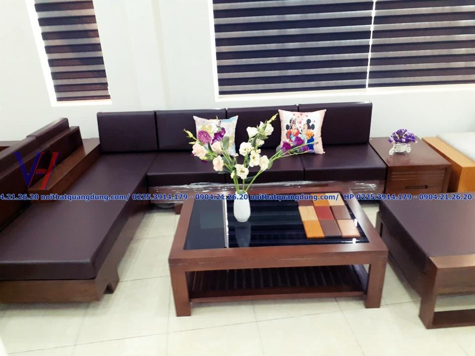sofa gỗ sồi cực đẹp tại hải phòng
