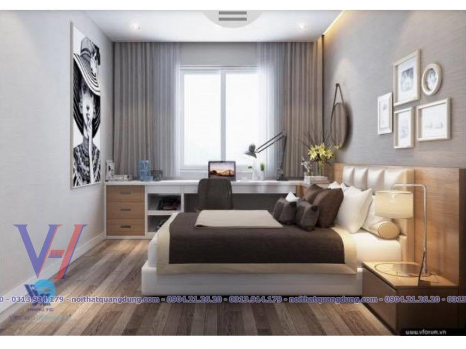 phòng ngủ nhà có bề ngang hẹp