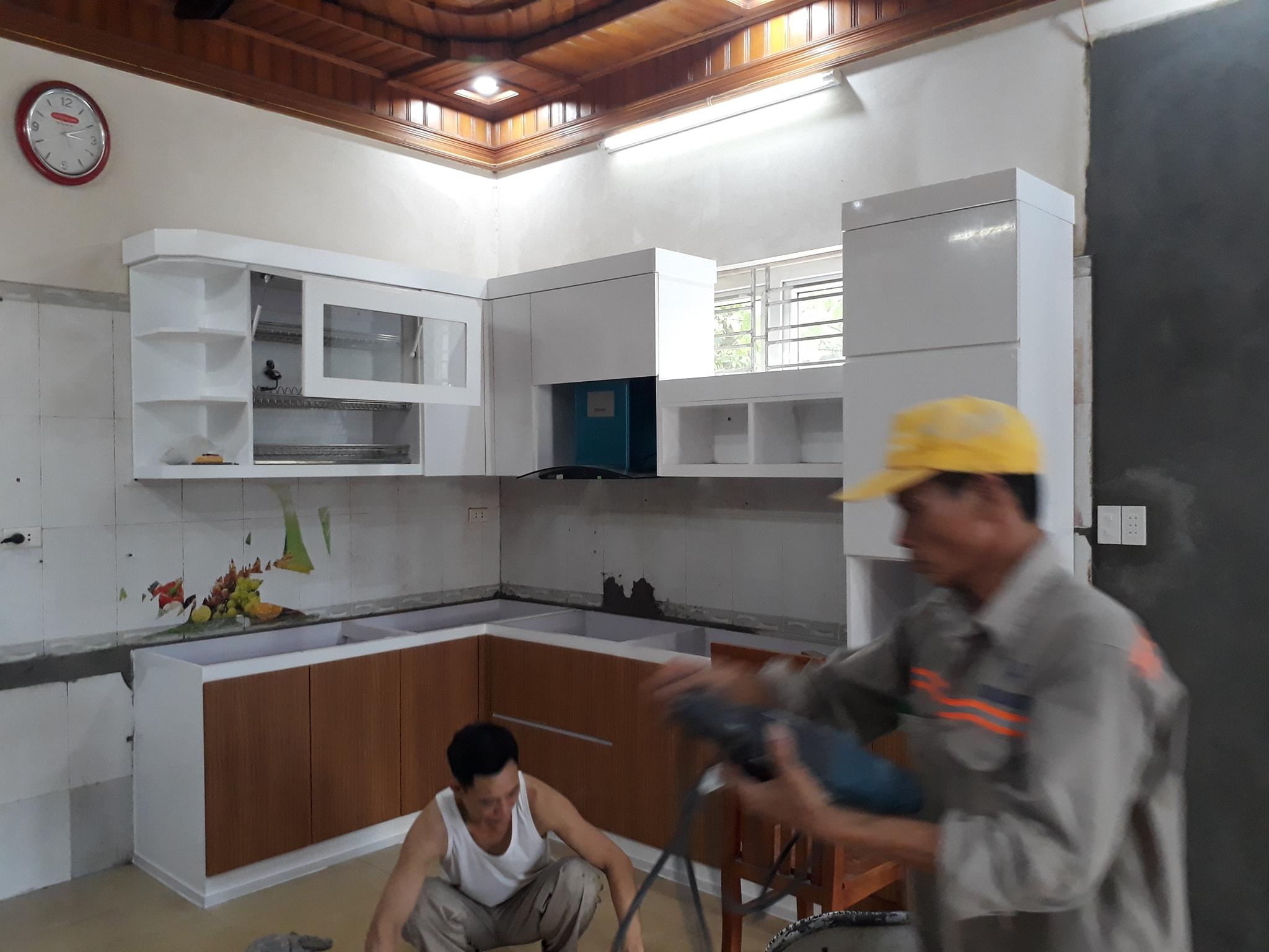 Bếp nhà chị Hà chung cư Hoàng Mai HP