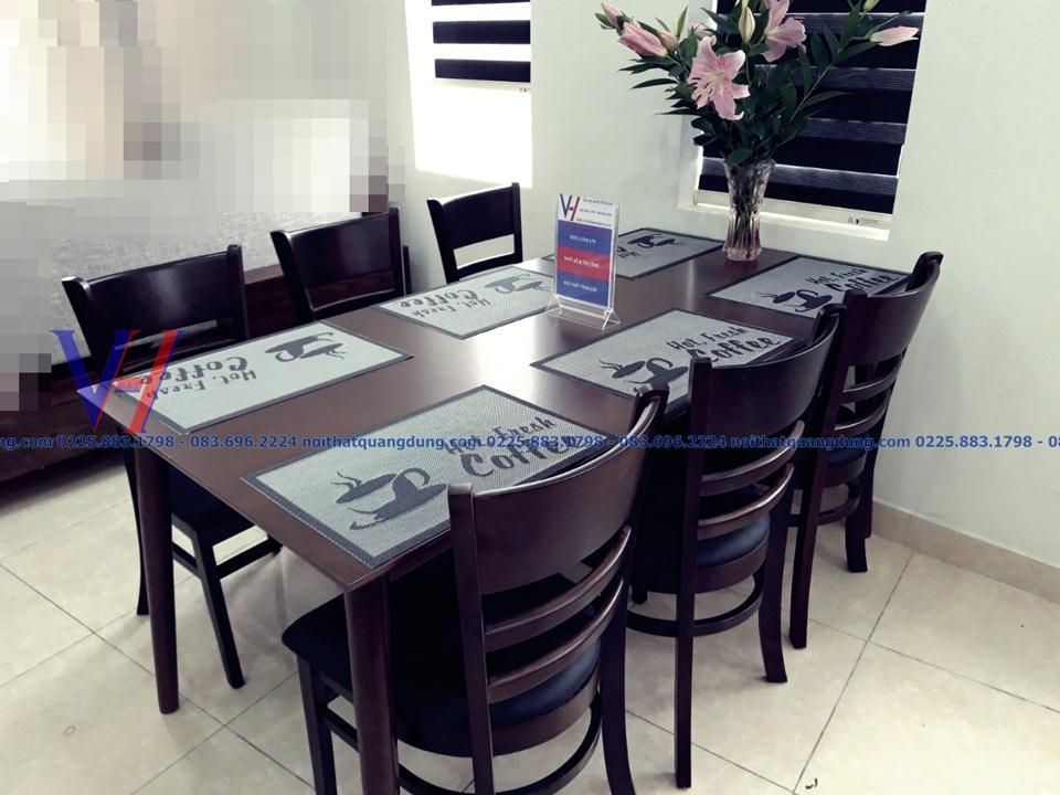 bộ bàn ăn 6 ghế bọc da cực rẻ tại hải phòng