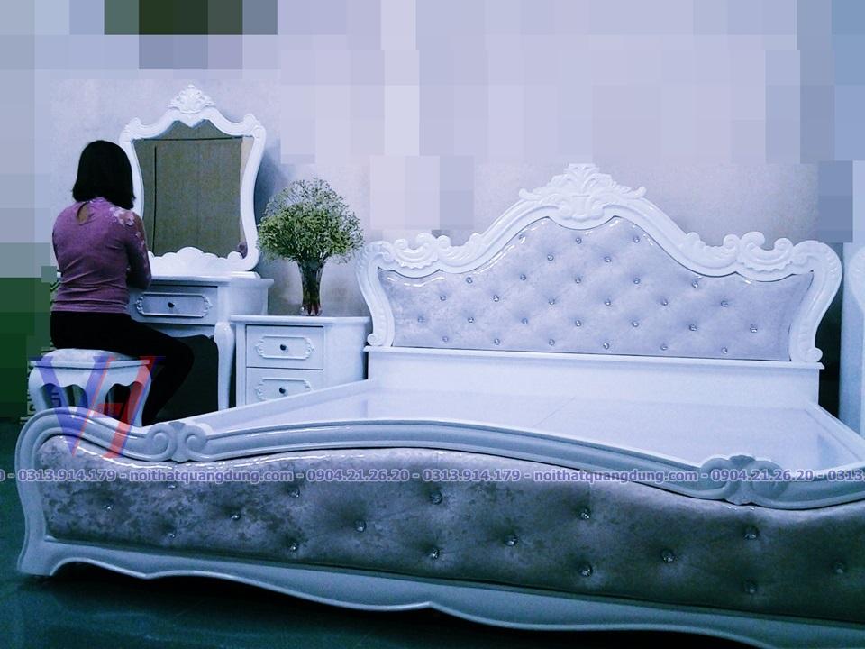 giường ngủ tân cổ điển quang dũng