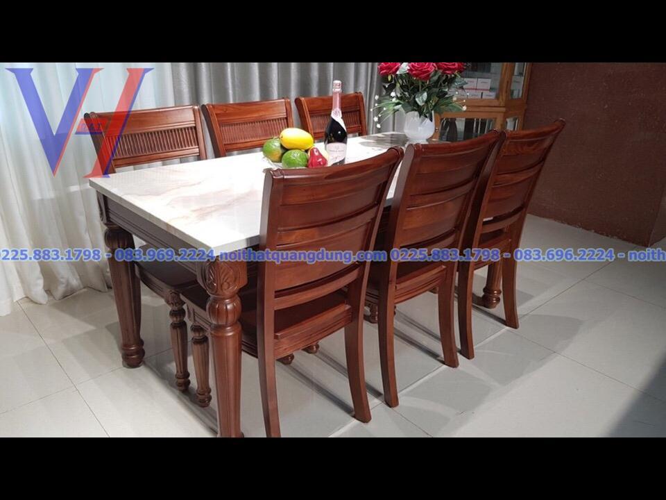 Bộ bàn ăn gỗ xà cừ: GH-6035