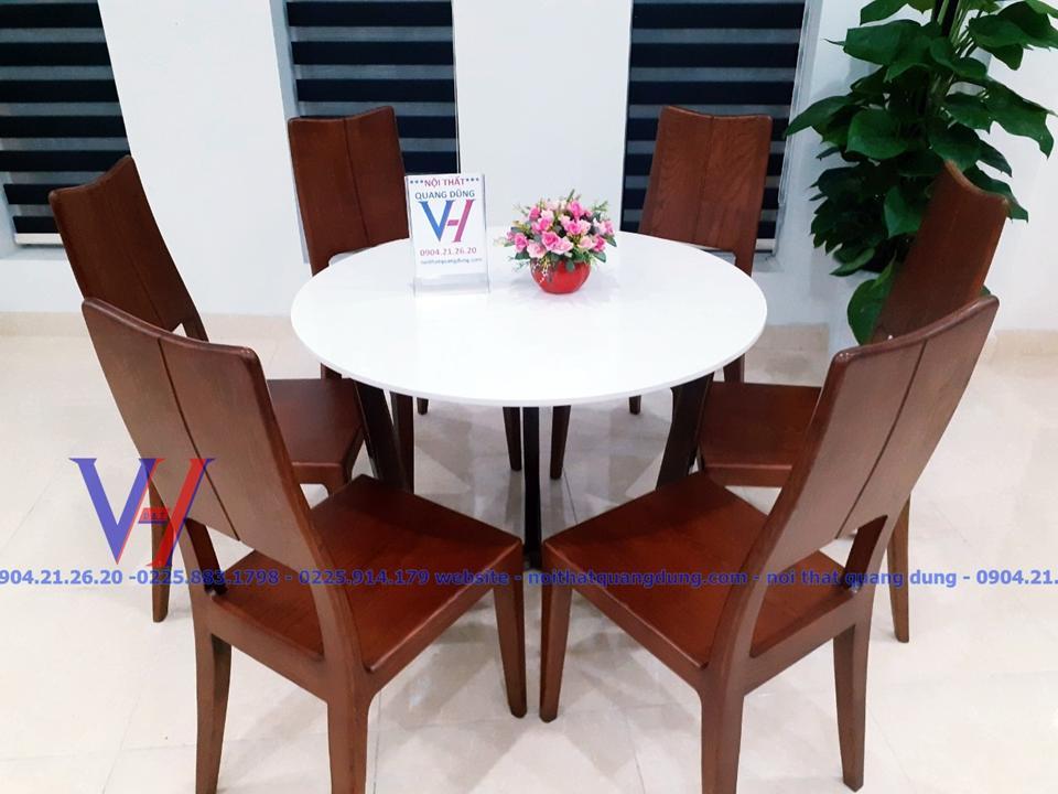 bộ bàn ghế ăn tròn chất như nước tại thành phố hải phòng