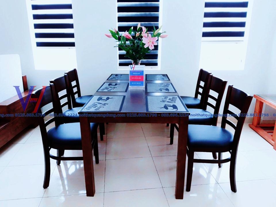 bàn ghế ăn đẹp cabine 6037