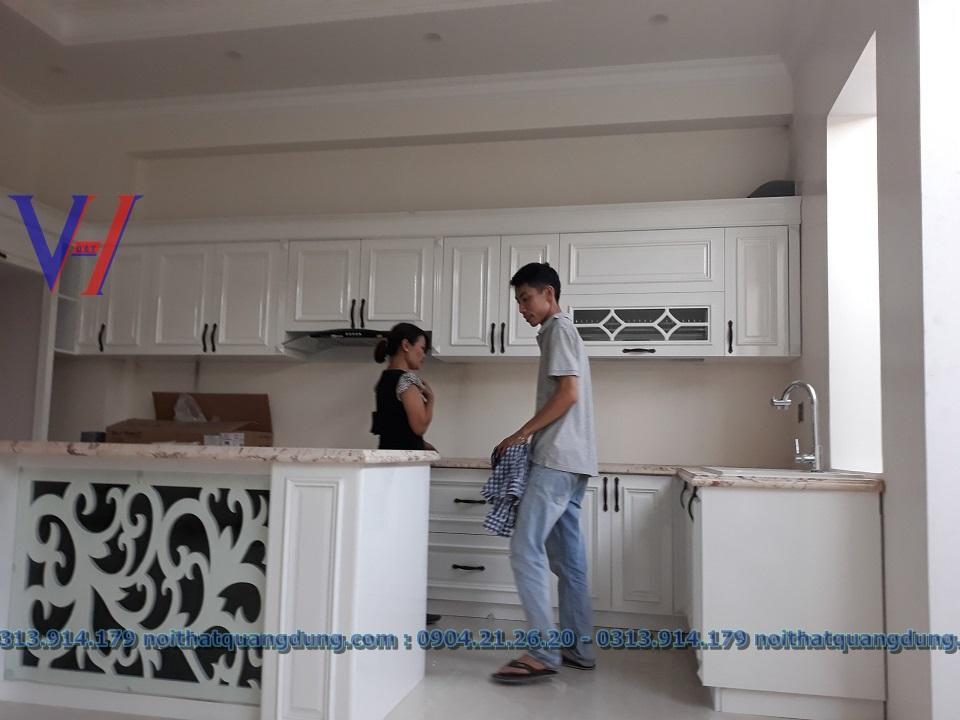 bếp tân cổ cực đẹp NT Quang Dũng HP