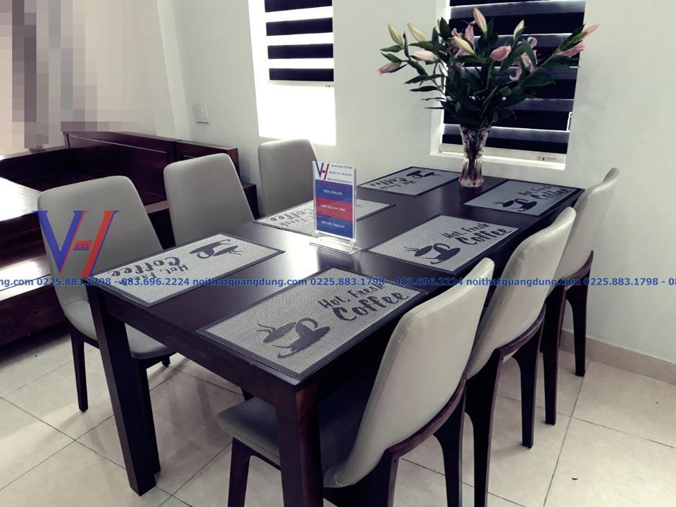 bộ bàn ăn ghế da đẹp tại hải phòng