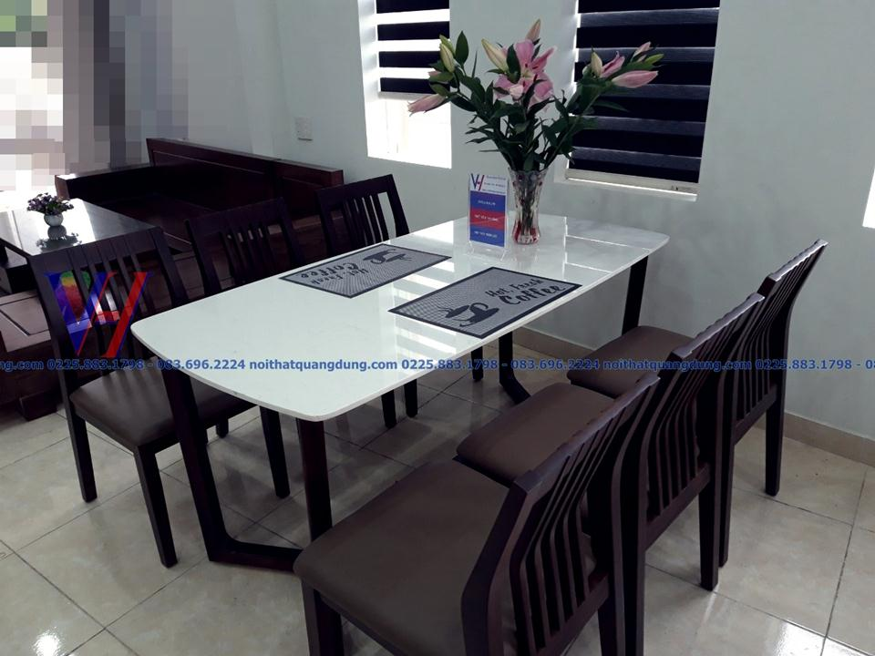 bộ bàn ăn mặt đá giá rẻ nhất hải phòng
