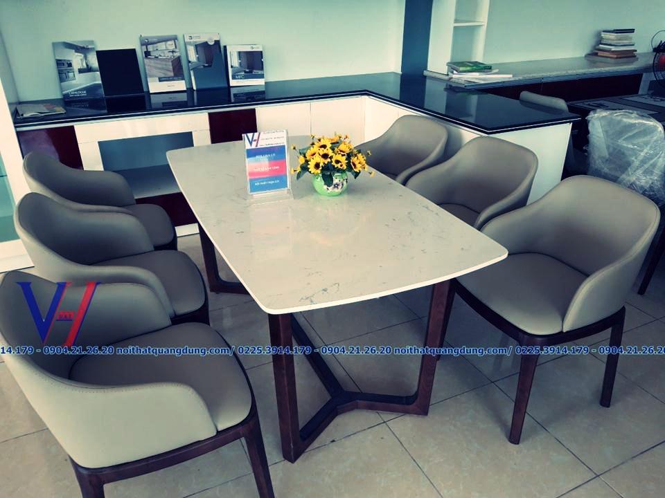 Bộ bàn ăn Grace - BĐ6 có tay - quang dũng hải phòng