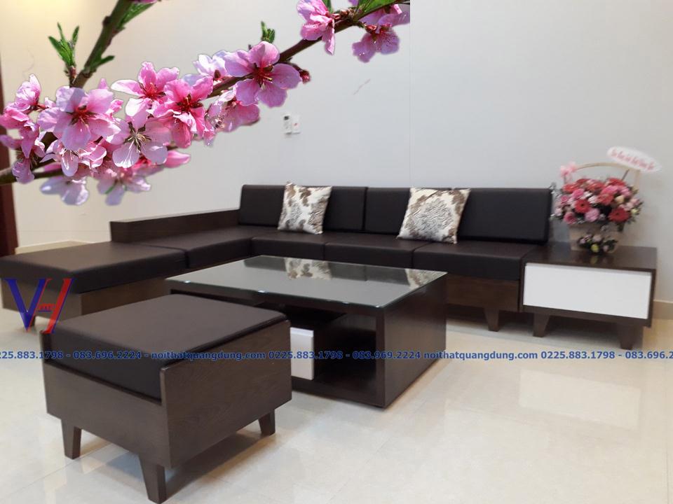 sofa gỗ đẹp tại hải phòng