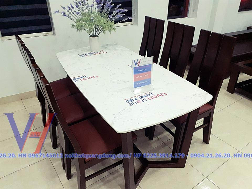 Bộ bàn ăn mặt đá đẹp tại nội thất quang dũng hải phòng