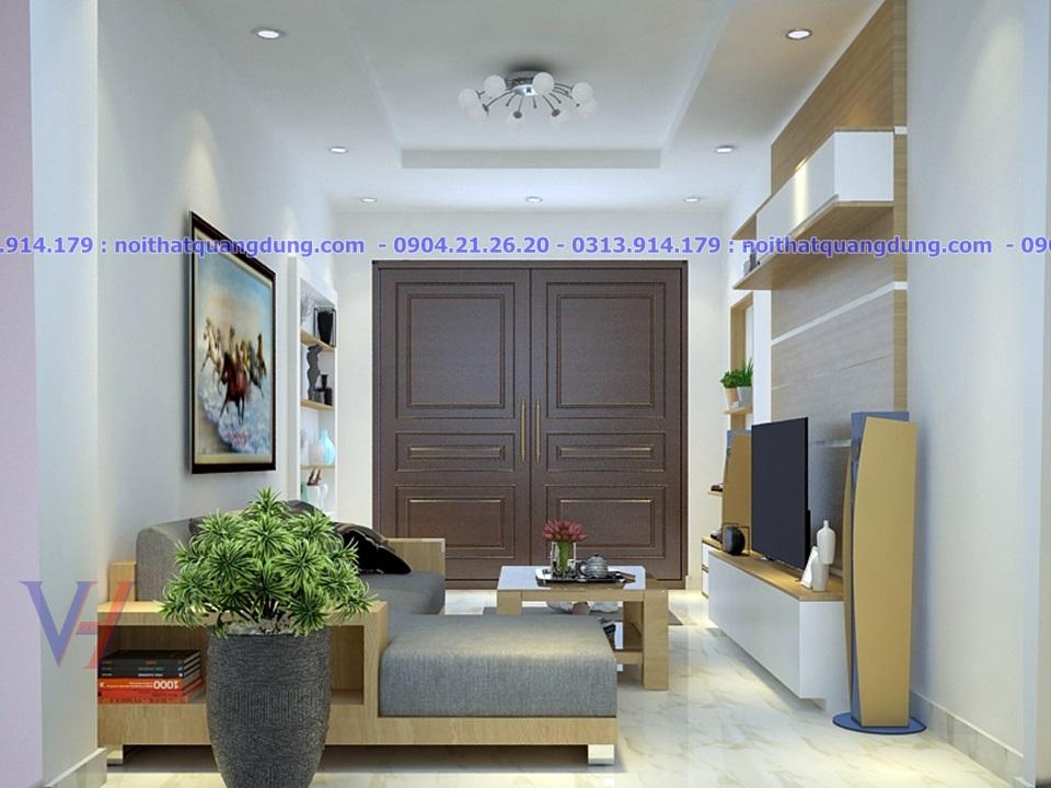 Phòng khách nhà hẹp