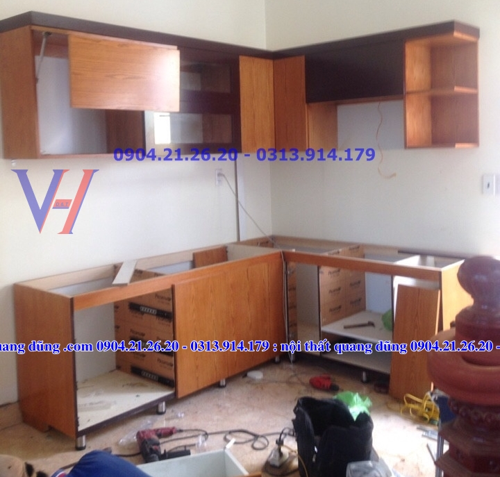 Tủ bếp nhà chị Liên Thủy Nguyên HP