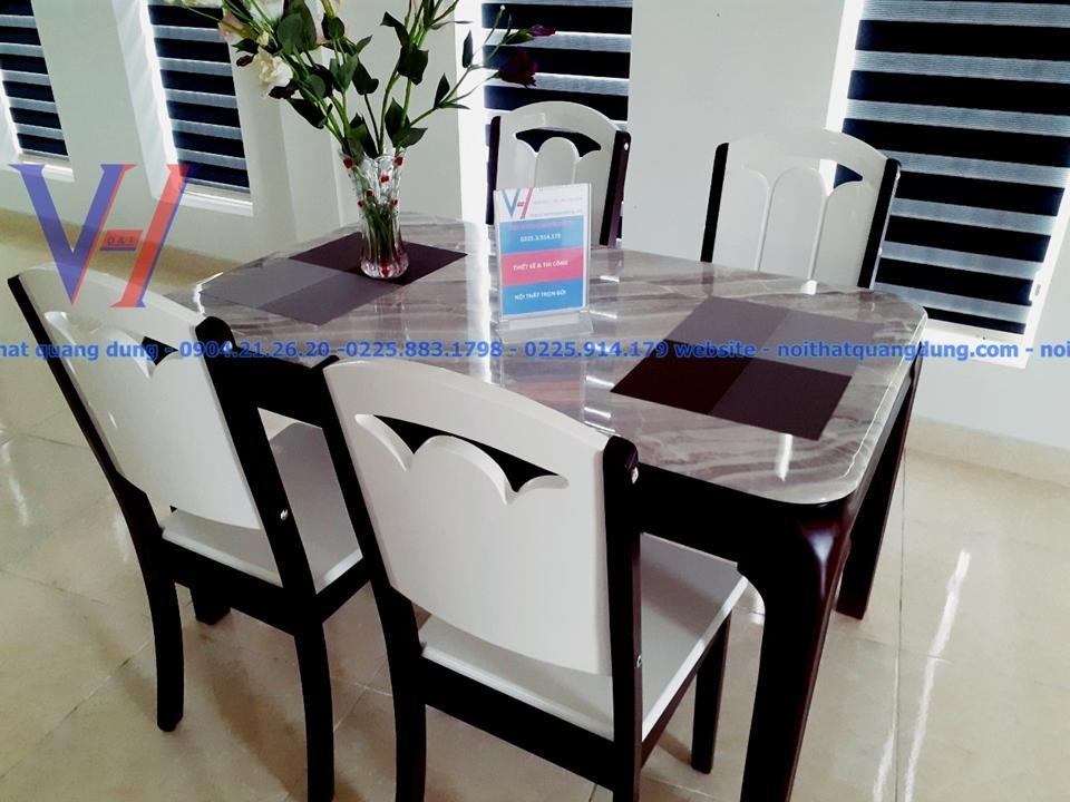 siêu phẩm nhập khẩu bàn ăn 4 ghế quang dũng hải phòng