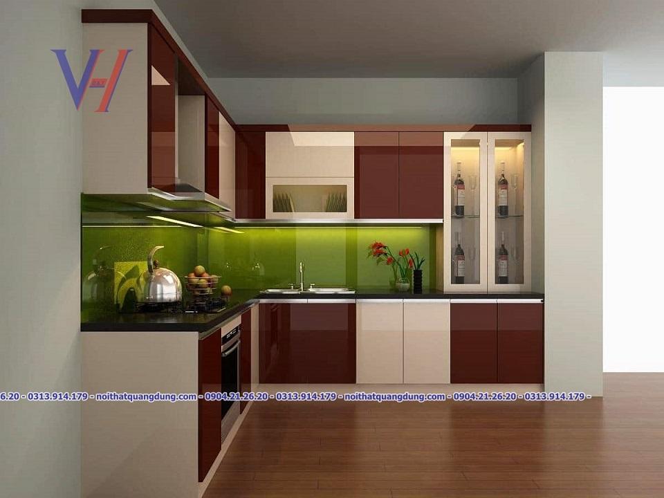 Tủ bếp Acrylic giá rẻ tại hải phòng