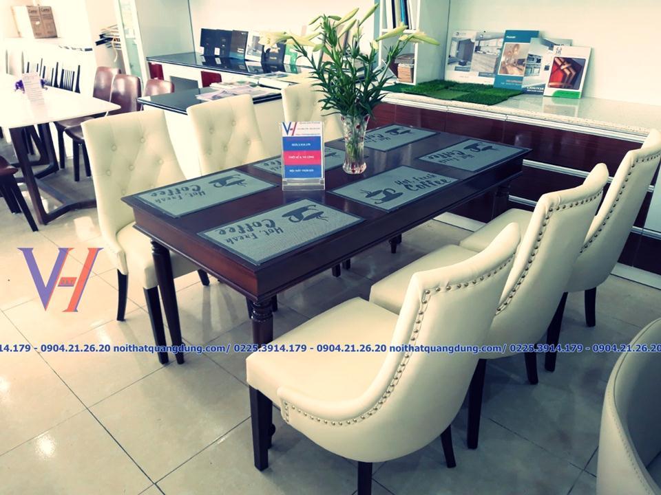 Siêu phẩm bàn ghế ăn tại Siêu thị nội thất quang dũng hải phòng