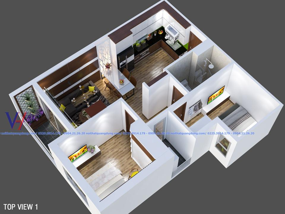 Phương án thi công nội thất căn hộ chung cư SAPPHIRE HẠ LONG