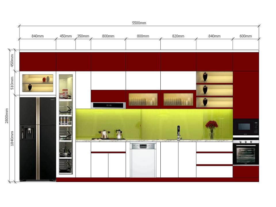 Tủ bếp Acrylic quang dũng